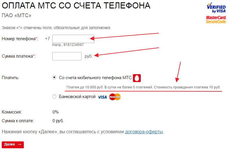 Как перевести деньги с мтс на мтс (инструкция с фото).
